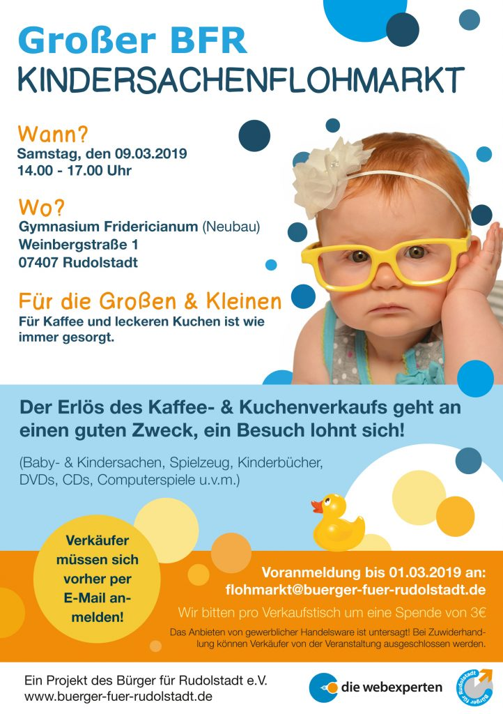 Bürger für Rudolstadt Babyflohmarkt Kindersachenflohmarkt